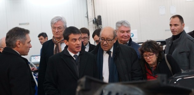 The French Defence Minister visited our factory in Lamballe
